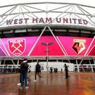 General view outside West Ham ground