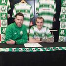 Shamrock Rovers manager Stephen Bradley with Sean Kavanagh