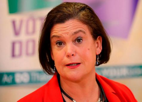 Sinn Féin president Mary Lou McDonald will meet British Prime Minister Theresa May in London today to discuss the impasse in the North. Photo: Niall Carson/PA Wire
