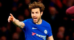 Fabregas: Battling display. Photo: Ben Standall/AFP/Getty Images