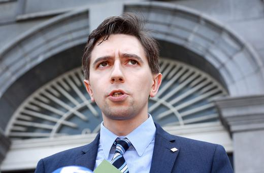 Health Minister Simon Harris made the first step towards holding the referendum at a Cabinet meeting yesterday. Photo: Frank McGrath