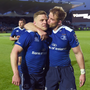 20 May 2016; Ian Madigan, left, and Luke Fitzgerald of Leinster after the Guinness PRO12 Play-off match between Leinster and Ulster at the RDS Arena in Dublin. Photo by Stephen McCarthy/Sportsfile