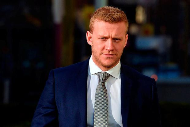 Stuart Olding arriving at Laganside Magistrates Court in Belfast. Photo: Pacemaker