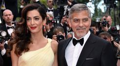 George Clooney and his wife Amal. Photo: Getty Images