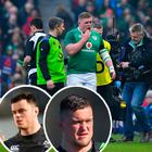 Tadhg Furlong won't be fit for Wales match and (inset) James Ryan and Andrew Porter will start