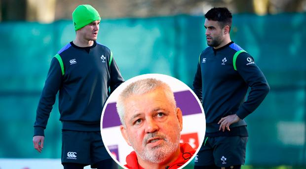 Sexton and Murray and (inset) Warren Gatland