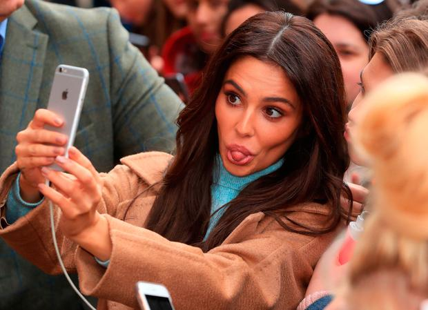 Cheryl has a selfie with fans after opening the new Prince's Trust and Cheryl's Trust centre in Newcastle