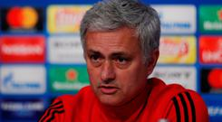 Manchester United manager Jose Mourinho ahead of Sevilla clash