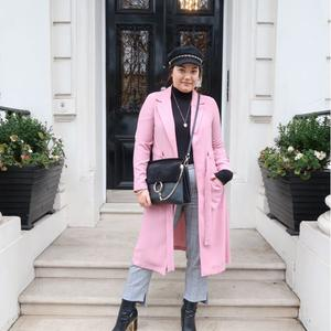 Grace Mongey at at London Fashion Week. Picture: Lorna Claire Weightman