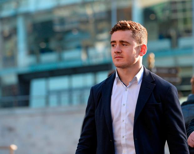 Ulster and Ireland rugby player Paddy Jackson arrives at Laganside Magistrates court Picture By: Pacemaker.