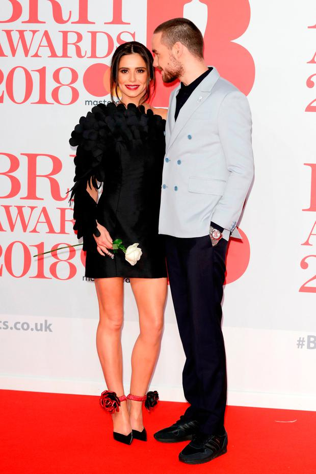 Cheryl and Liam Payne attend The BRIT Awards 2018 held at The O2 Arena on February 21, 2018 in London, England. (Photo by John Phillips/Getty Images)