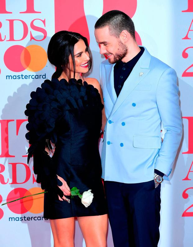 Cheryl and Liam Payne attending the Brit Awards at the O2 Arena, London