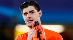 Thibaut Courtois has yet to sign his new contract Photo: REUTERS/David Klein