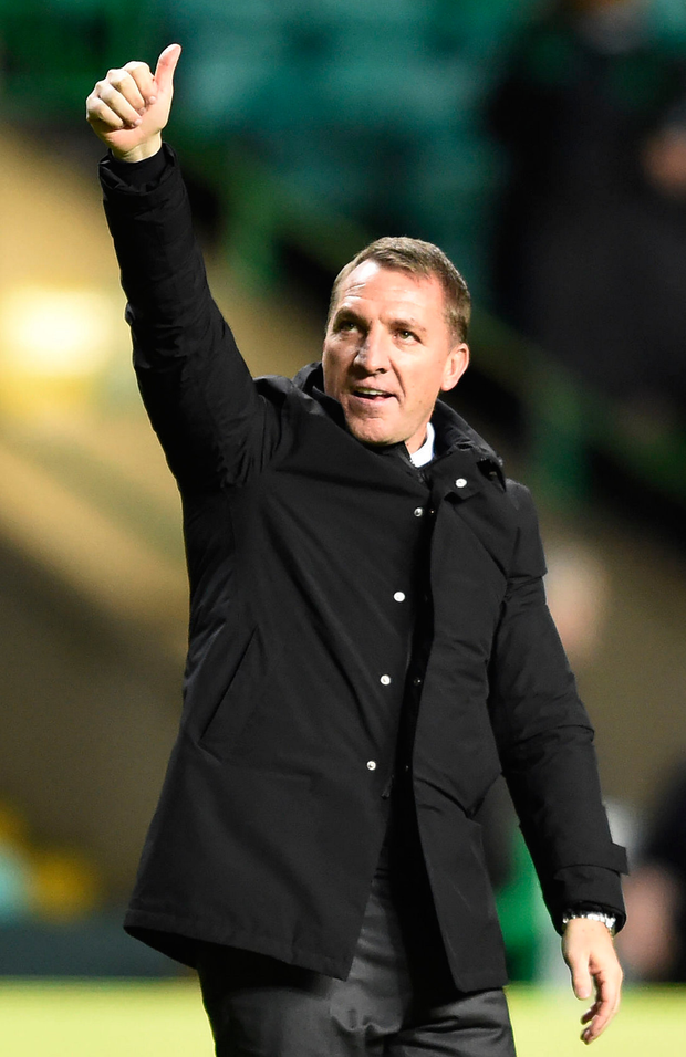 Celtic's Brendan Rodgers Photo: PA