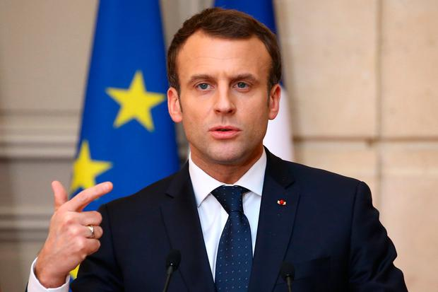 French President Emmanuel Macron Photo: REUTERS/Stephane Mahe