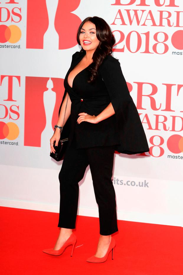 Scarlett Moffatt attends The BRIT Awards 2018 held at The O2 Arena on February 21, 2018 in London, England. (Photo by John Phillips/Getty Images)