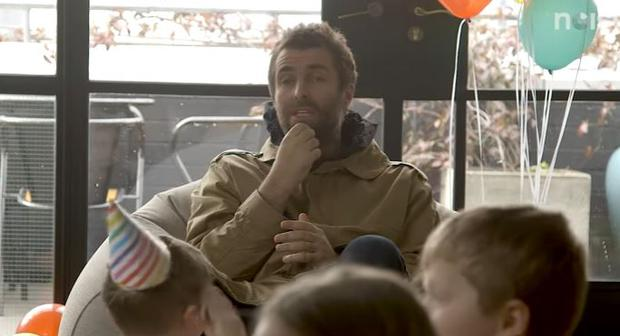 Noisey's YouTube video sees Liam Gallagher interviewed by a group of adorable kids.