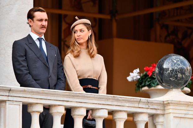 Pierre Casiraghi and Beatrice Casiraghi attend the Monaco National Day Celebrations in the Monaco Palace Courtyard on November 19, 2017 in Monaco, Monaco. (Photo by Pascal Le Segretain/Getty Images)