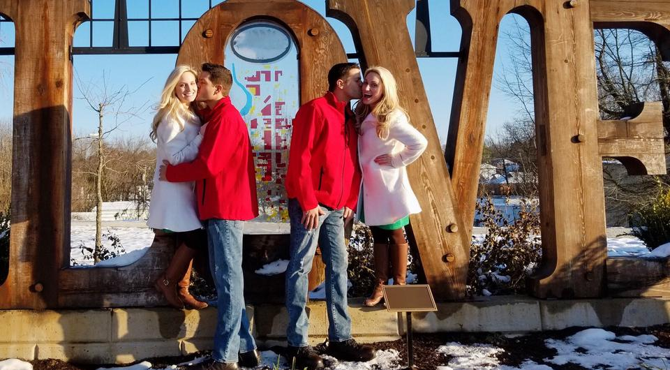 Josh and Jeremy Salyers and Brittany and Briana Deane will have a joint wedding | Photo via Brittany Deane, Facebook
