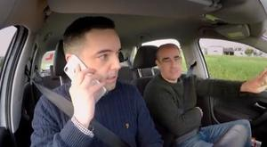 Michael McLaughlin struggles to drive while taking a call on his mobile phone. How's Your Driving, RTE One, 8.30pm Monday February 26