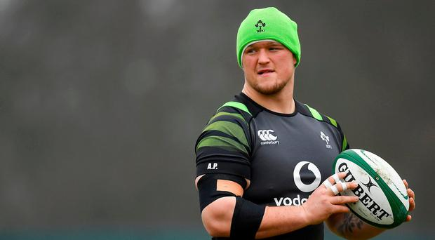Andrew Porter during Ireland rugby squad training at Carton House in Maynooth, Co Kildare. Photo by Brendan Moran/Sportsfile