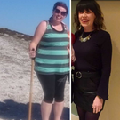 Jacqueline, before and after her weight loss.