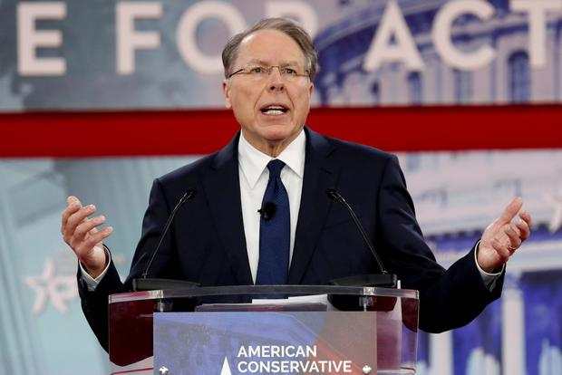 NRA Executive Vice President and CEO Wayne LaPierre speaks at the Conservative Political Action Conference (CPAC) at National Harbor, Maryland, U.S., February 22, 2018. REUTERS/Kevin Lamarque