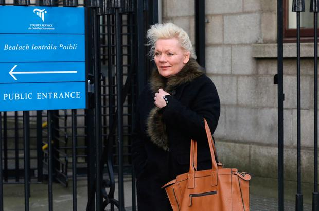 Amanda Bratby from Navan Co. Meath pictured leaving the Four Courts Pic:Collins Courts