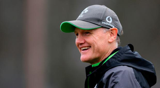 Joe Schmidt is hoping that he and his players will have plenty to smile about after tomorrow's clash with Wales. Photo: PA