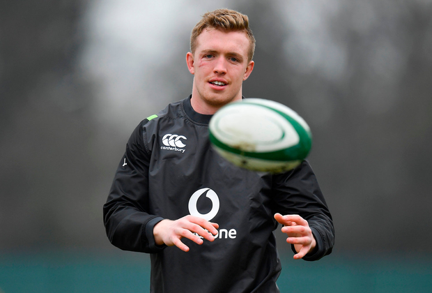 Dan Leavy during Ireland rugby squad training at Carton House. Photo: Sportsfile