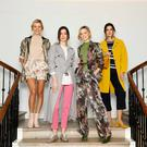 Teo Sutra, Louise Byrne, Sarah Morrisey and Kelly Horrigan model the new Marks & Spencer spring and summer collection. Photo: Kieran Harnett
