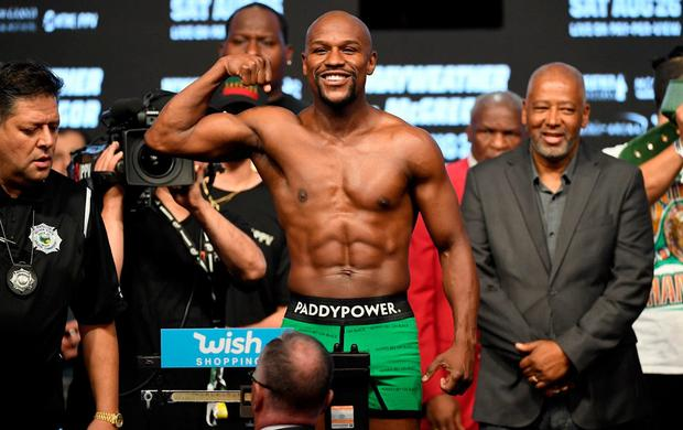 Playful antics: Paddy Power are masters of gaining social media traction, including when they had Floyd Mayweather wearing boxers with their logo on them before his fight with Conor McGregor
