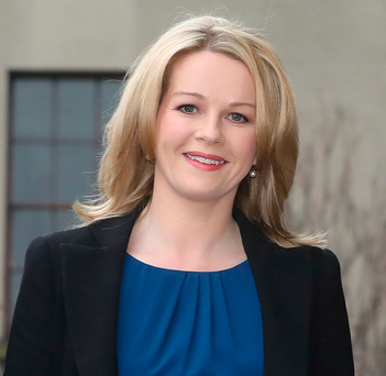 RTÉ presenter Claire Byrne arrives at the Four Courts. Photo: Collins Courts