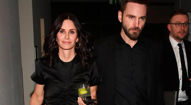 Courteney Cox and fiance Johnny McDaid at IMRO Awards at The Gibson Hotel, Dublin