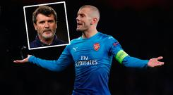 Jack Wilshere has been criticised by Roy Keane (inset)