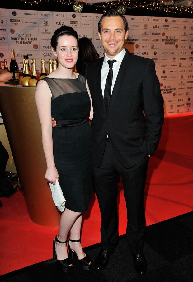 Claire Foy and actor Stephen Campbell Moore arrive for the Moet British Independent Film Awards at Old Billingsgate Market on December 4, 2011 in London, England. (Photo by Jon Furniss/WireImage)