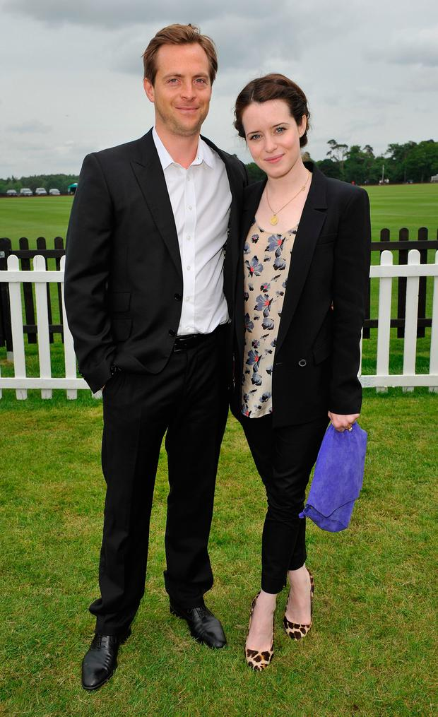 Stephen Campbell Moore and Claire Foy attends the Cartier Queen's Cup Polo Day 2013 at Guards Polo Club on June 16, 2013 in Egham, England. (Photo by Dave M. Benett/Getty Images)
