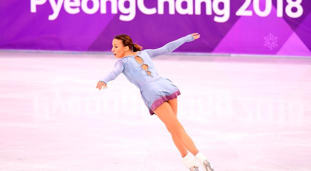 Nicole Schott of Germany competes during the Ladies Single Skating Free Skating