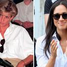 Princess Diana, left, and Meghan Markle, right