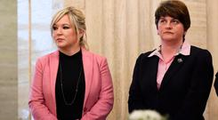 The North's political leaders, Sinn Fein's Michelle O'Neill and Arlene Foster of the DUP.