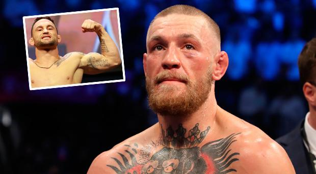 Conor McGregor and (inset) Frankie Edgar