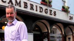 Eoin McCambridge pictured outside his business in Galway