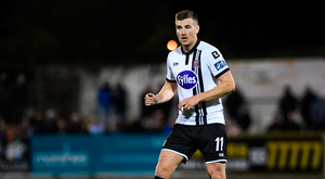 8 September 2017; Patrick McEleney of Dundalk during the Irish Daily Mail FAI Cup Quarter-Final match between Dundalk and Drogheda United at Oriel Park in Dundalk, Co Louth. Photo by Stephen McCarthy/Sportsfile