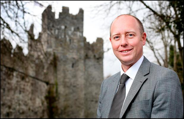 Estate agent Paul Reddy at Swords Castle