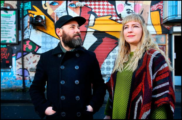 Labour of love: Simon Cullen and Sorca McGrath recorded Precession in a bedroom in their own home. Photo: Steve Humphreys
