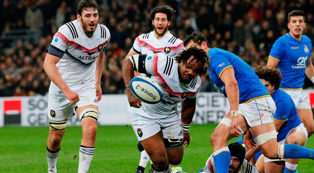 Rugby Union - Six Nations Championship - France vs Italy - Orange Velodrome, Marseille, France - February 23, 2018 France's Mathieu Bastareaud in action REUTERS/Jean-Paul Pelissier