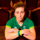 Ireland's Katie Fitzhenry at a press conference in the Talbot Hotel, Dublin. Photo: Sportsfile