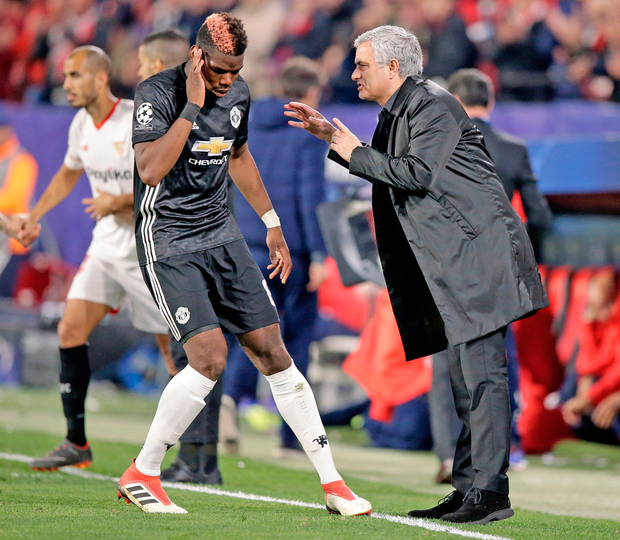 Jose Mourinho's relationship with Paul Pogba is coming under increasing scrutiny as the Frenchman struggles to justify his huge transfer fee. Photo: Getty Images