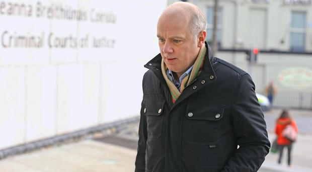 Former Anglo Irish CEO David Drumm arrives at the Circuit Criminal Court. Photo: Collins Courts