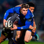 Leinster's Garry Ringrose is tackled by Eital Bredenkamp and Berton Klaasen of Southern Kings at the RDS last night Photo: Brendan Moran/Sportsfile